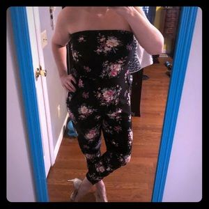 Dresses & Skirts - Strapless Floral Jumpsuit